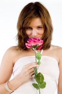 Hübsche Frau im Internet verführen